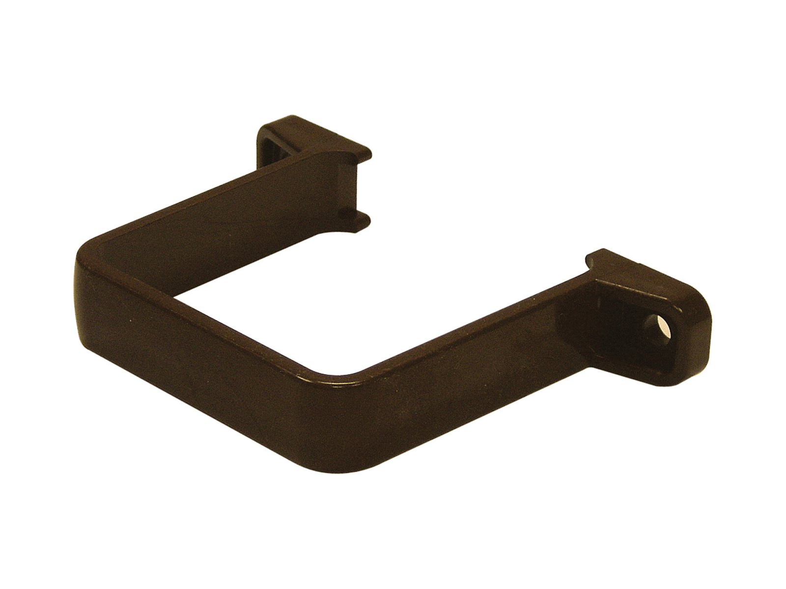 FLOPLAST RCS2BR 65MM SQUARE DOWNPIPE - FLUSH PIPE CLIP - BROWN