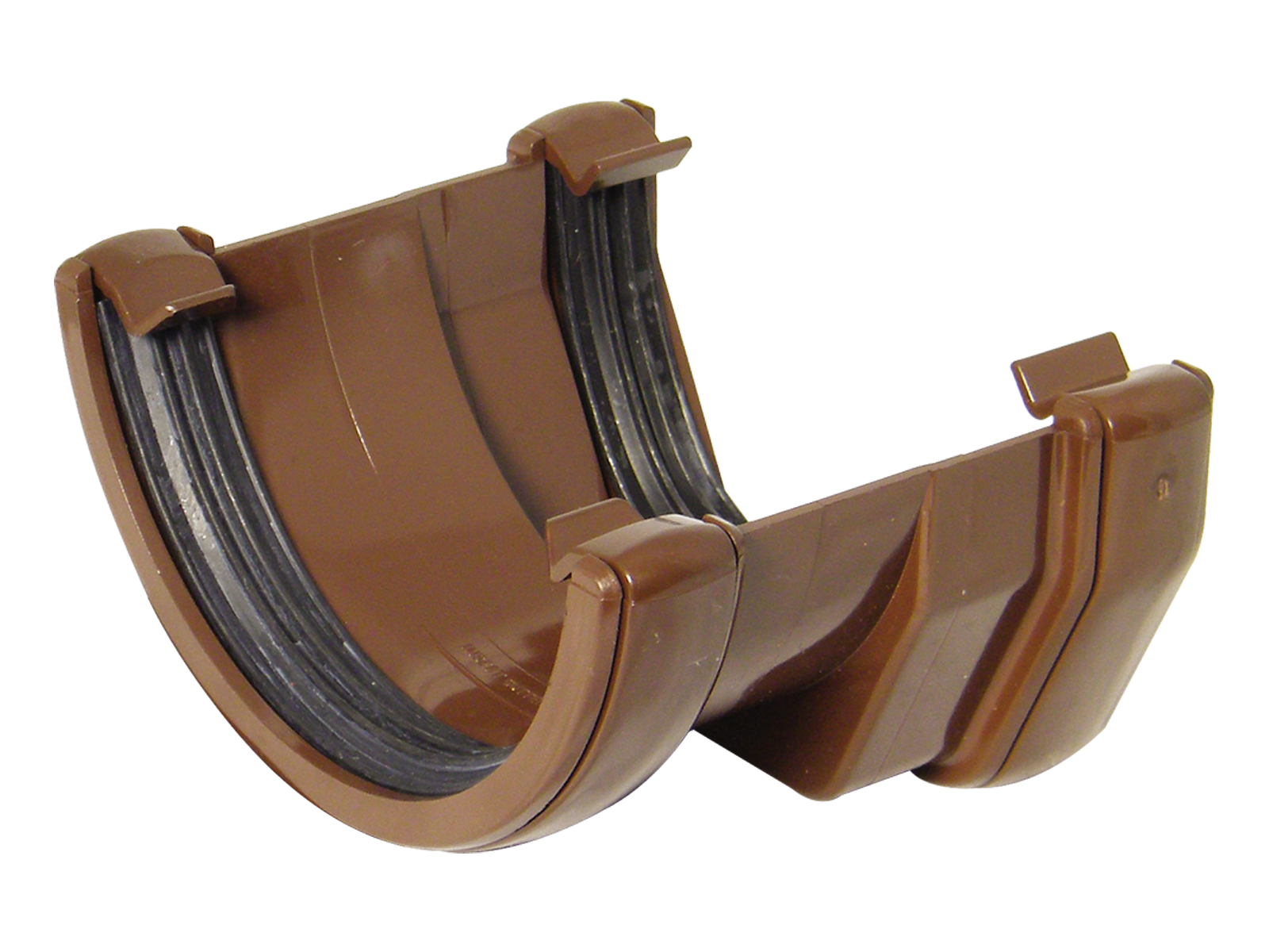 FLOPLAST SQUARE LINE TO HALF ROUND GUTTER ADAPTOR - RDS1 - BROWN