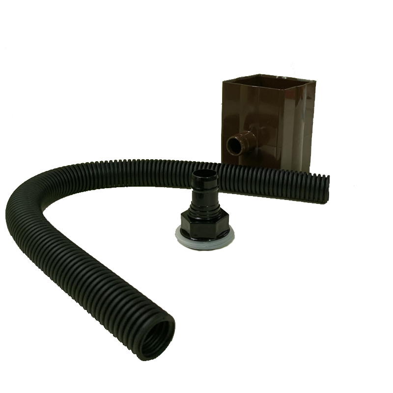 Floplast RVS1BR 65mm Square and 68mm Round Downpipe Diverter - Brown