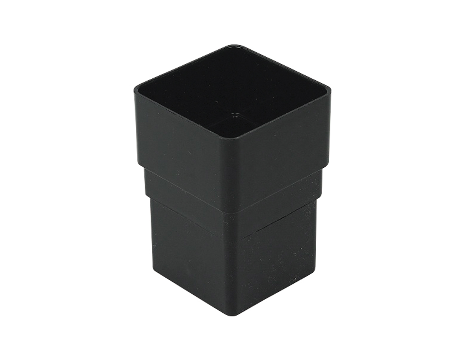 FLOPLAST RSS1BL 65MM SQUARE DOWNPIPE - PIPE SOCKET - BLACK