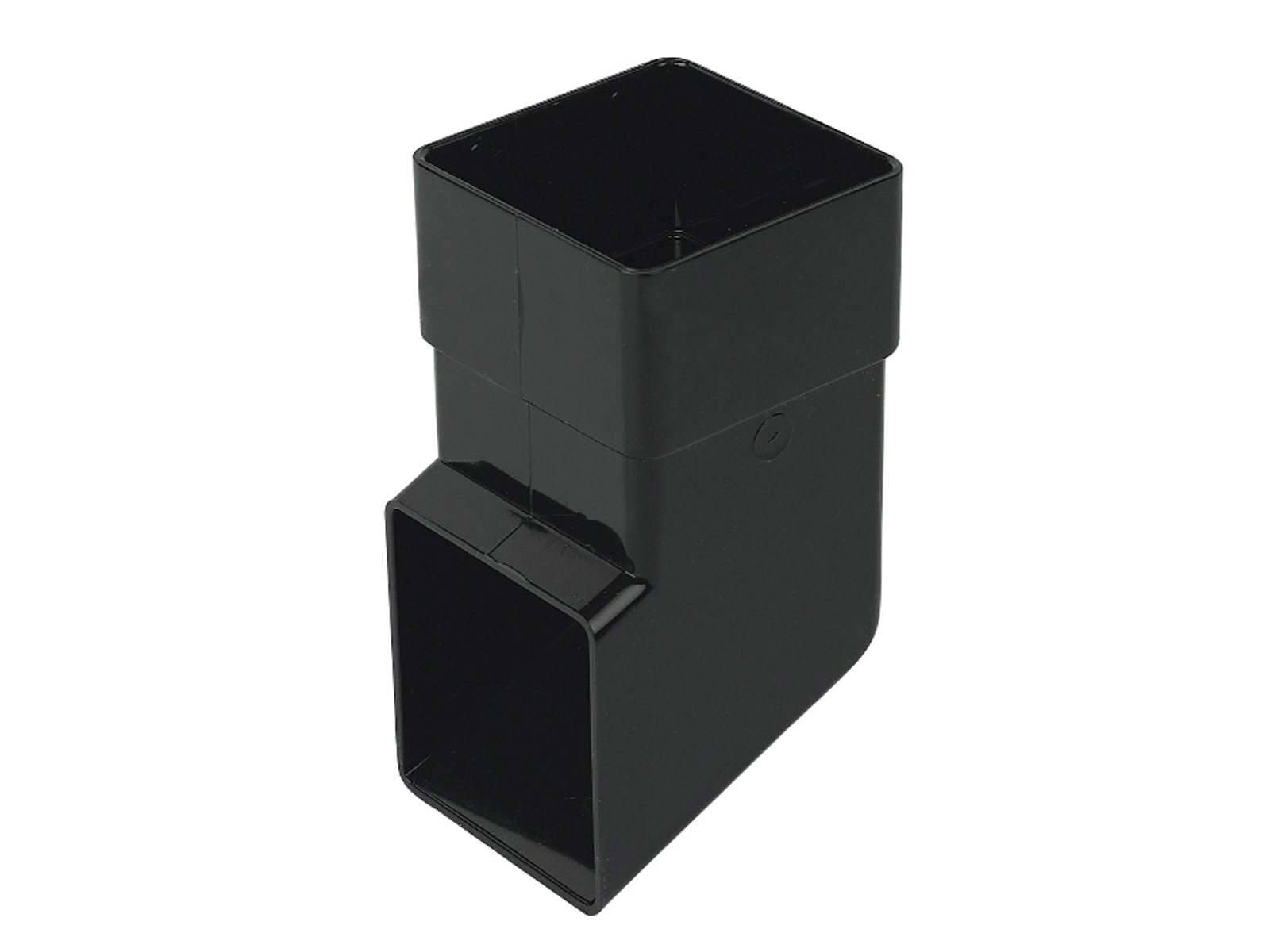 FLOPLAST RBS3BL 65MM SQUARE DOWNPIPE - SHOE - BLACK