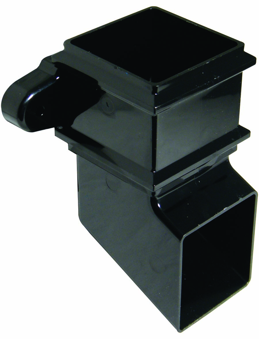 FLOPLAST RBS4BL 65MM SQUARE DOWNPIPE -  CLASSIC SHOE - BLACK