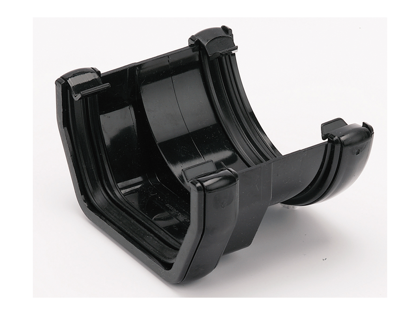 Floplast RDS1BL 114mm Square Line to 112mm Half Round Gutter Adaptor - Black