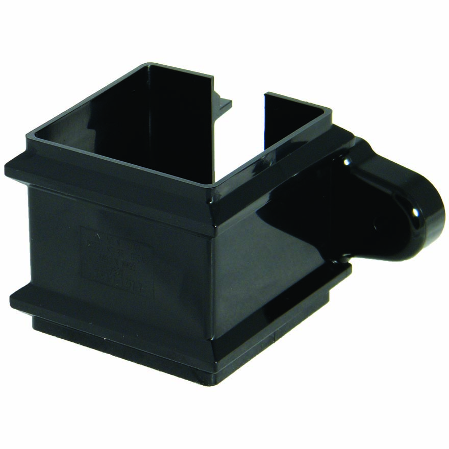 FLOPLAST 65MM SQUARE DOWNPIPE - RCS4 CLASSIC PIPE CLIP - BLACK