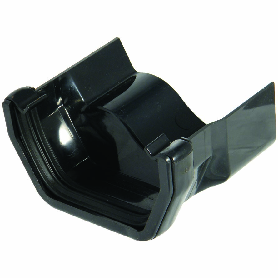 FLOPLAST RDS3BL SQUARE GUTTER TO CAST IRON OGEE - RIGHT HAND ADAPTOR - BLACK
