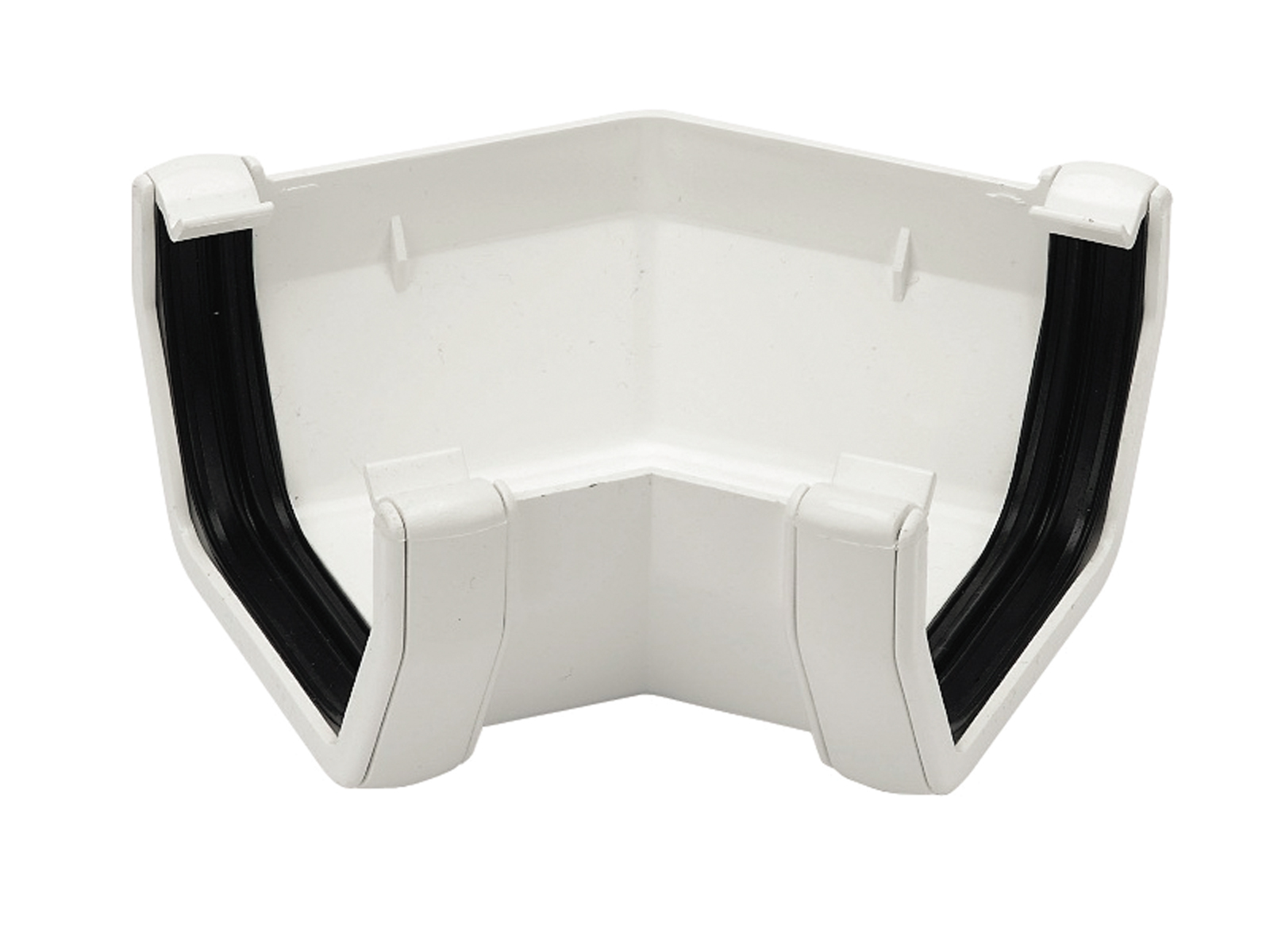 FLOPLAST SQUARE LINE GUTTER - RAS2 135* ANGLE - WHITE