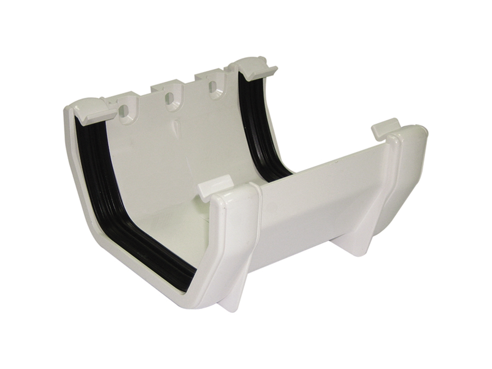 FLOPLAST RUS1WH SQUARE LINE GUTTER - UNION BRACKET - WHITE