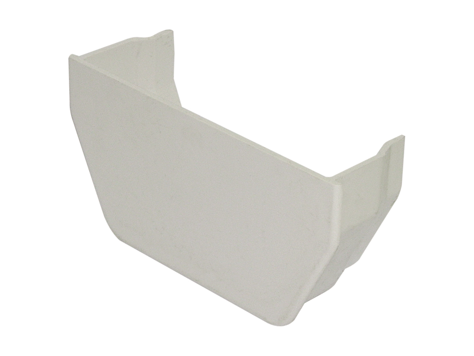 FLOPLAST RES2WH SQUARE LINE GUTTER - INTERNAL STOPEND - WHITE
