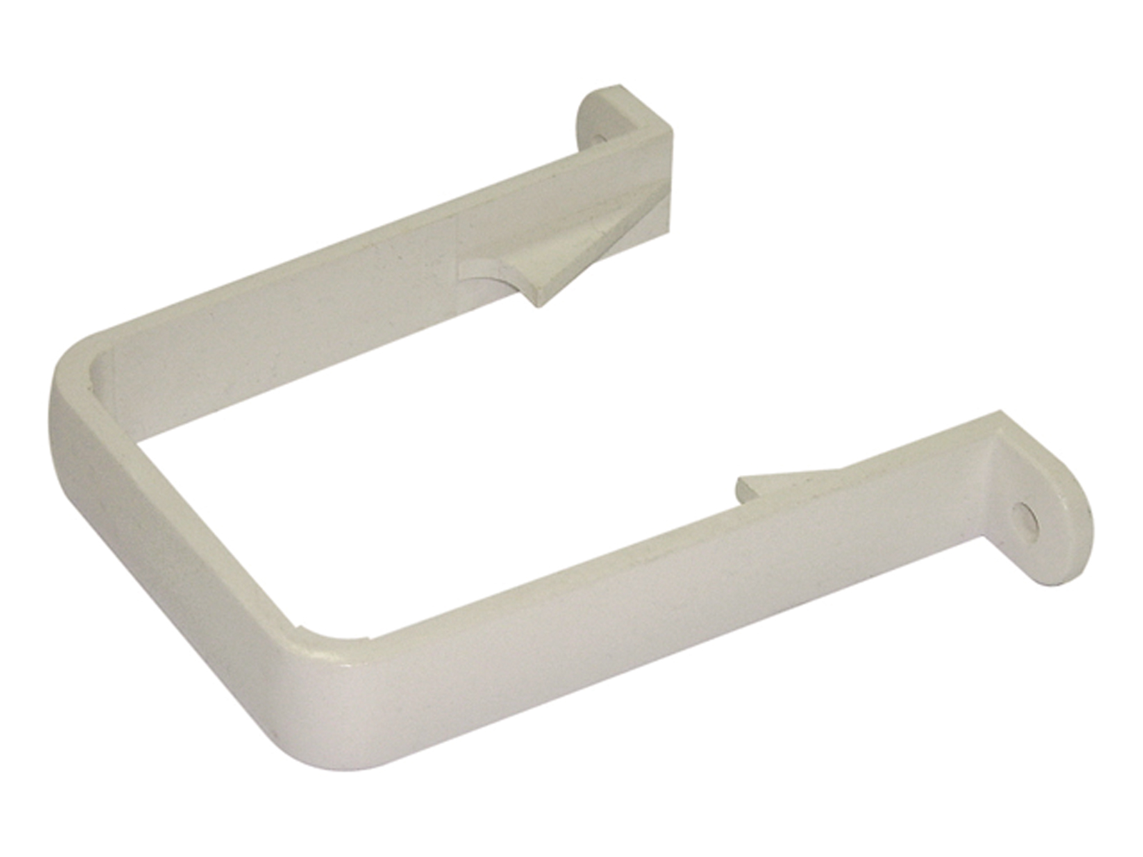 FLOPLAST RCS1WH 65MM SQUARE DOWNPIPE -  PIPE CLIP - WHITE