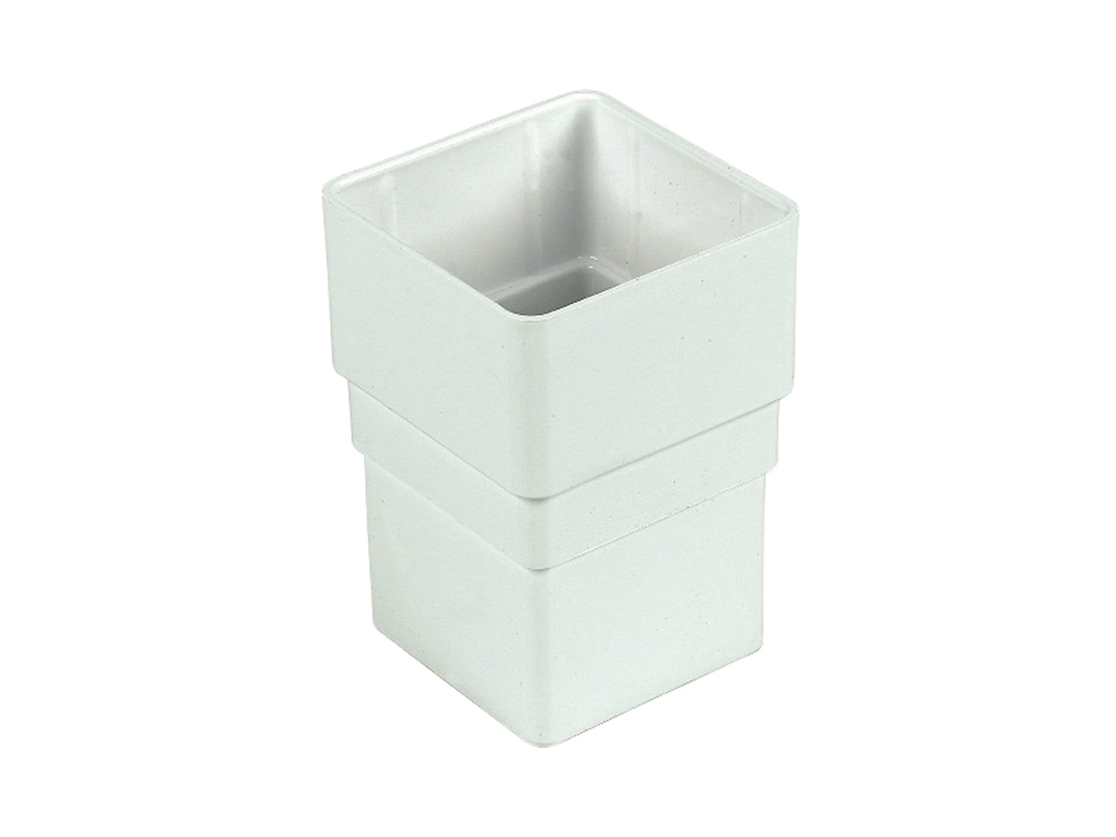 FLOPLAST RSS1WH 65MM SQUARE DOWNPIPE - PIPE SOCKET - WHITE