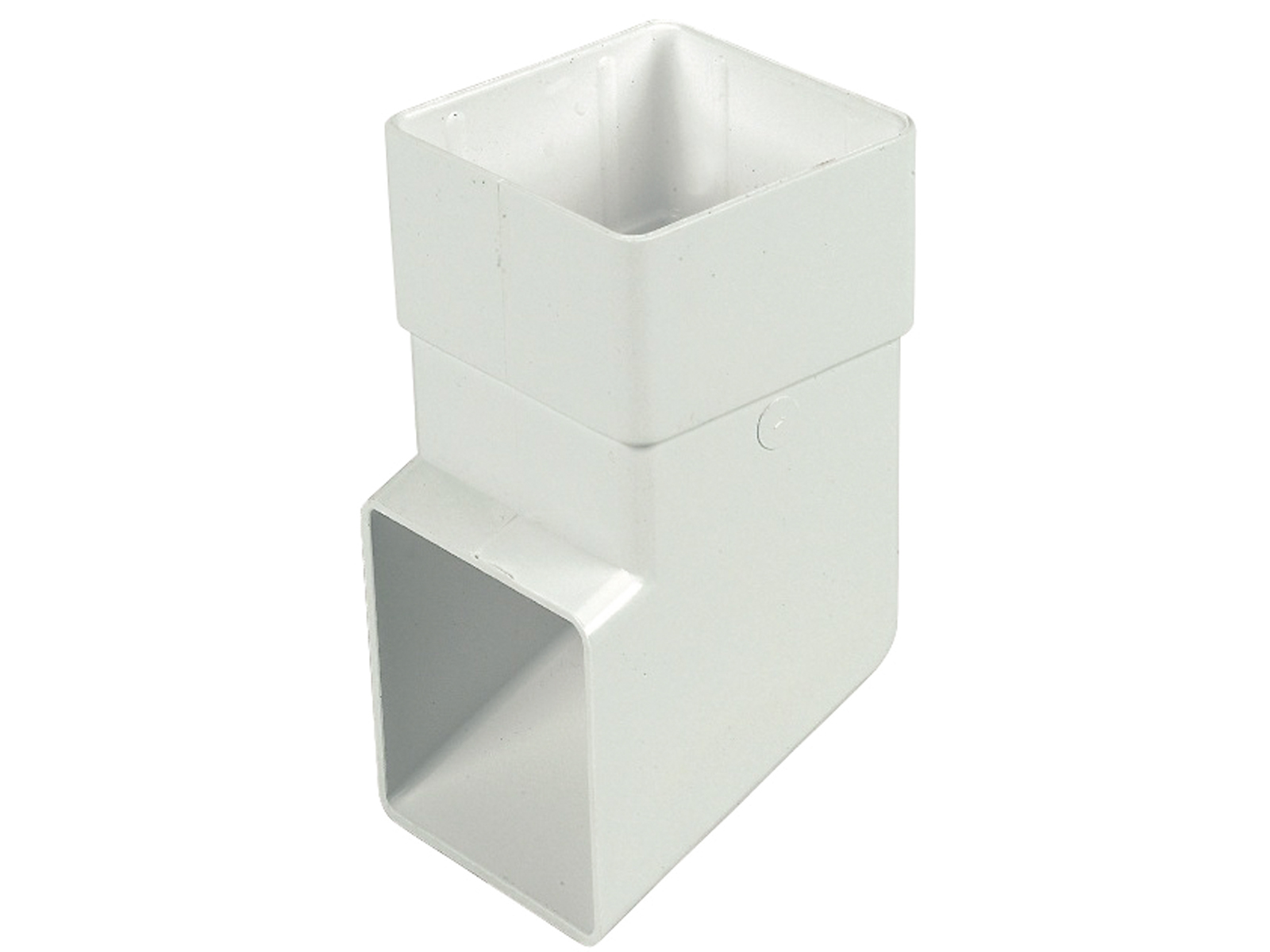 FLOPLAST RBS3WH 65MM SQUARE DOWNPIPE -  SHOE - WHITE