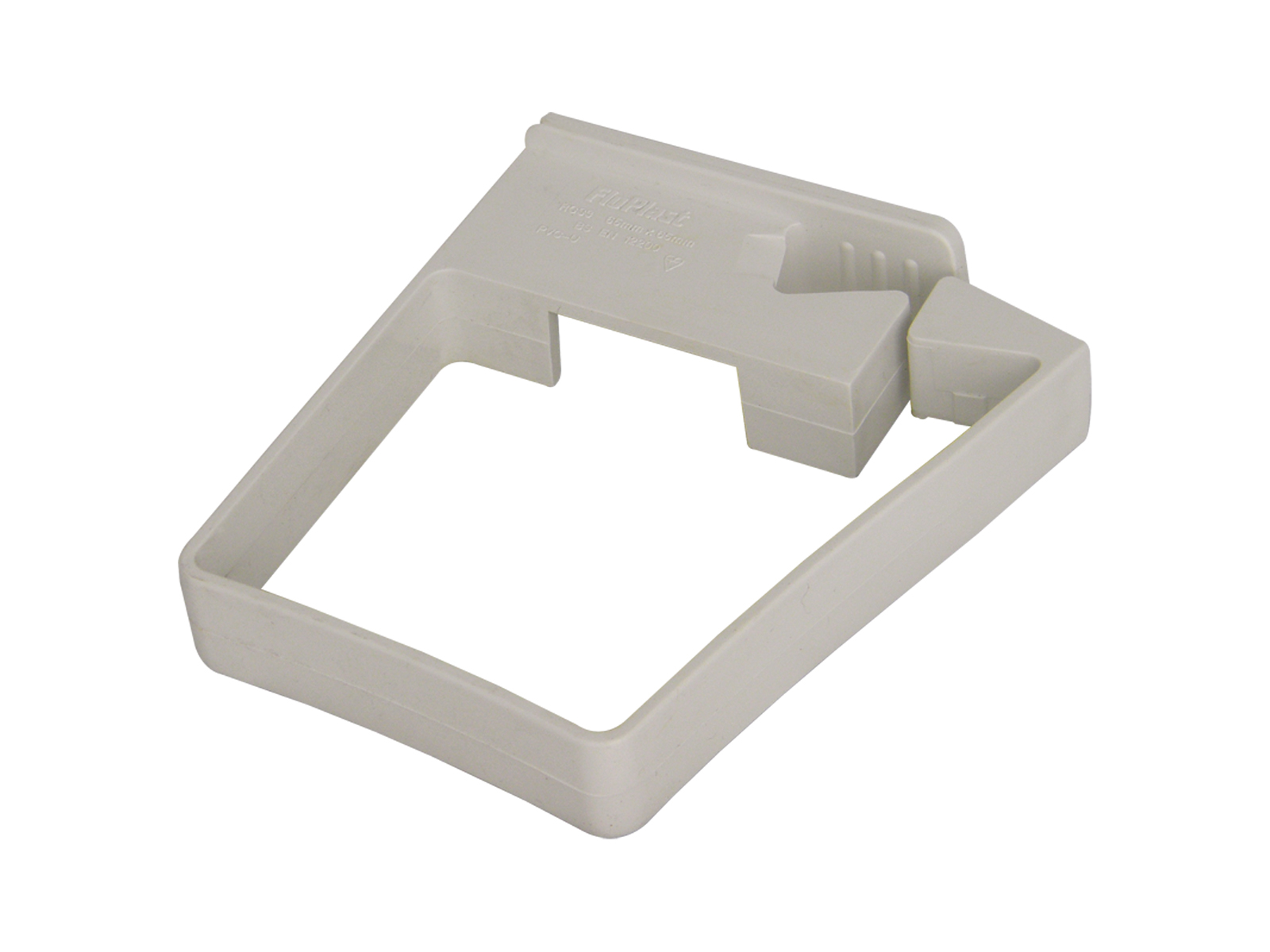 FLOPLAST 65MM SQUARE DOWNPIPE - RCS3 SINGLE FIX PIPE CLIP - WHITE