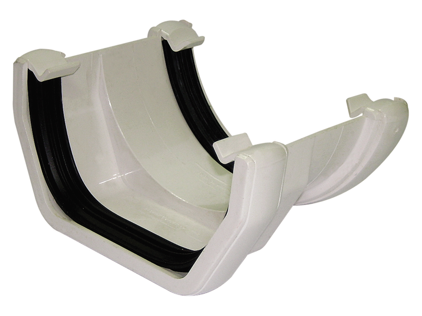 RDS1W SQUARE TO ROUND GUTTER ADAPTOR WHITE