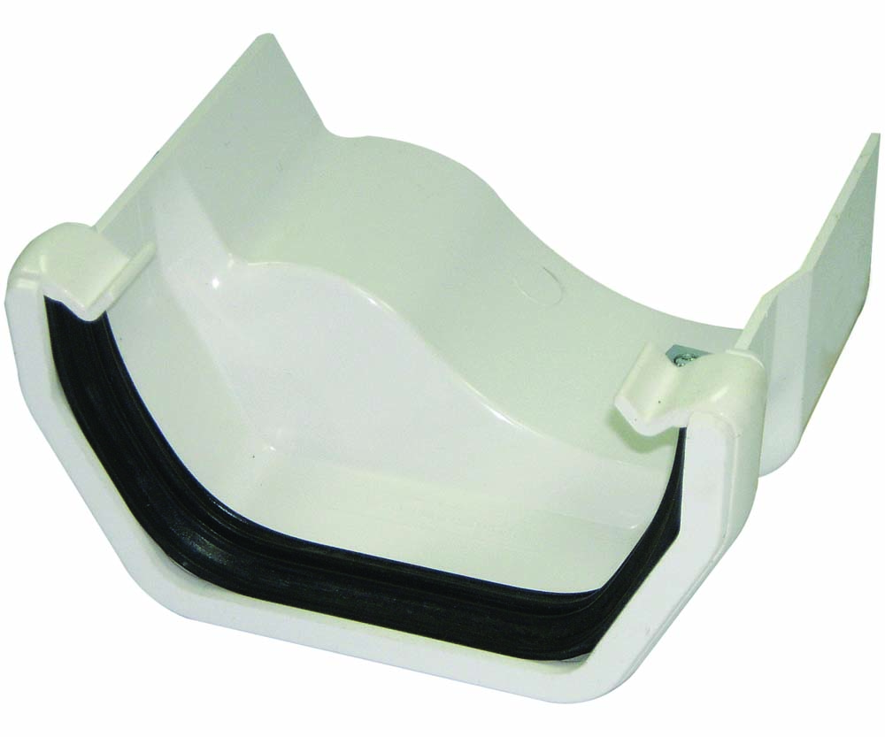 FLOPLAST RDS4WH SQUARE GUTTER TO CAST IRON OGEE - LEFT HAND ADAPTOR - WHITE