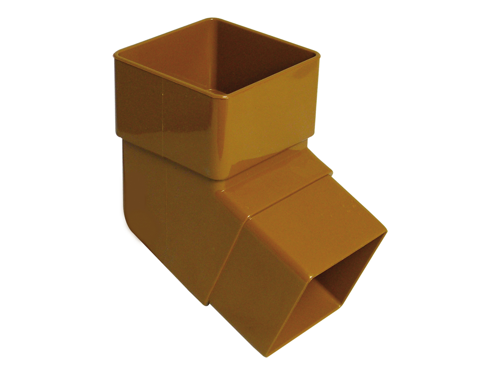 FLOPLAST RBS2CA 65MM SQUARE DOWNPIPE - 112.5* OFFSET BEND - CARAMEL