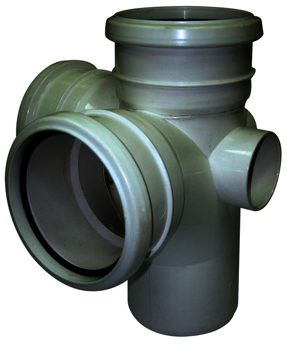Floplast SP232GR 110mm/4in Ring Seal Soil System - 92.5 Degree Corner Branch - Grey