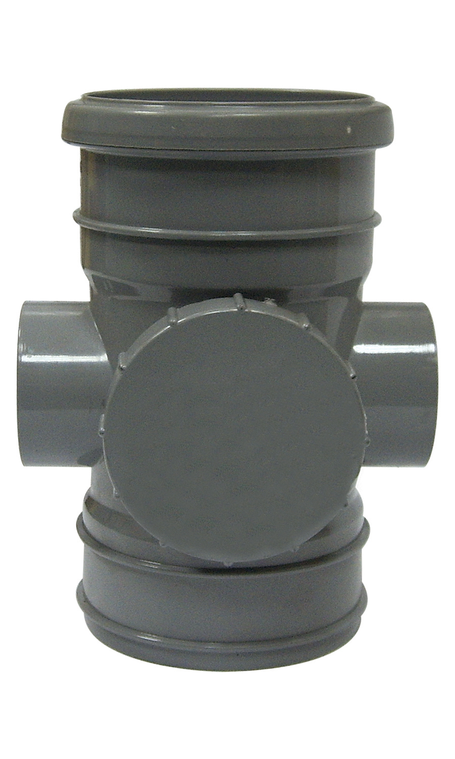 "Floplast SP275GR 110mm/4"" Ring Seal Soil System - Access Pipe Double Socket - Grey"