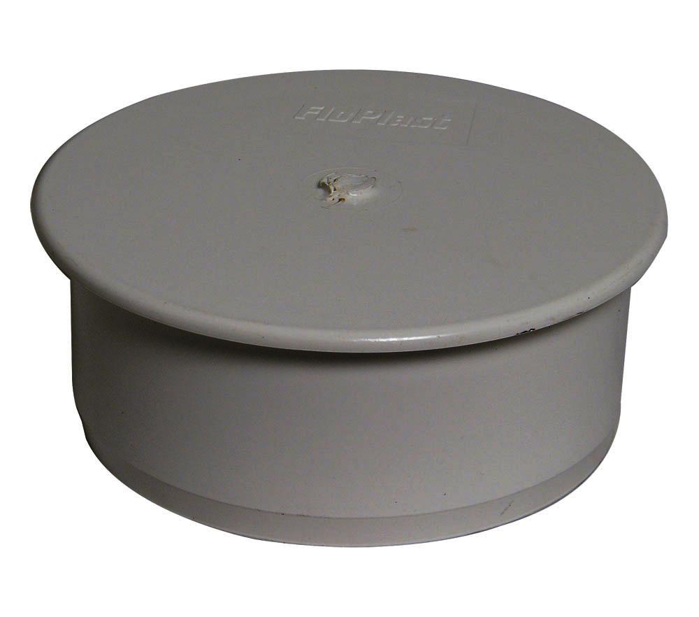 Floplast SP296GR 110mm/4 Inch Ring Seal Soil System - Socket Plug - Grey