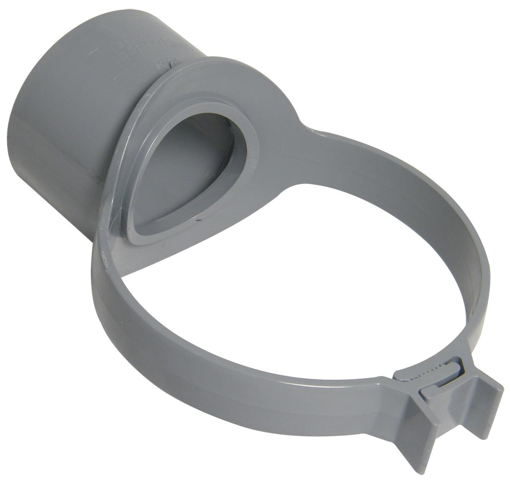 "Floplast SP319GR 110mm/4"" Ring Seal Soil System - Strap Boss - Grey"