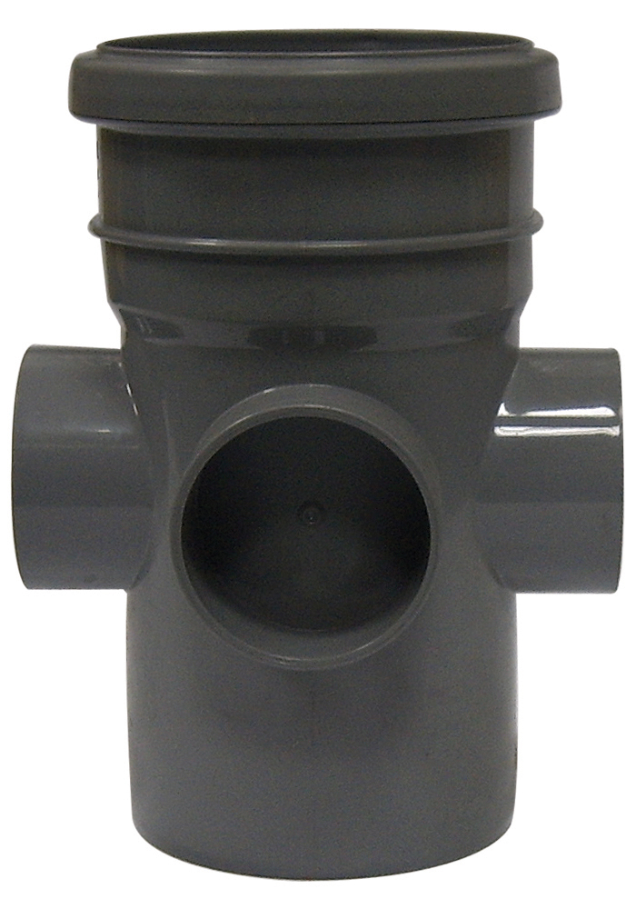 "Floplast SP582GR 110mm/4"" Ring Seal Soil System - Boss Pipe Double Socket - Grey"