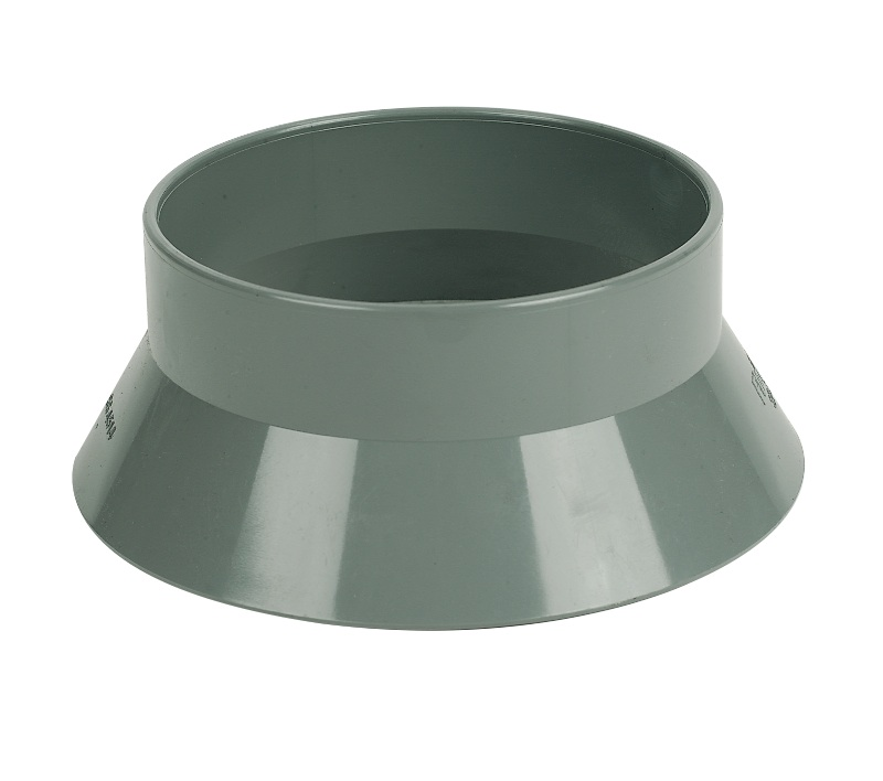 Floplast SP300GR 110mm Ring Seal Soil System - Weathering Collar - Grey