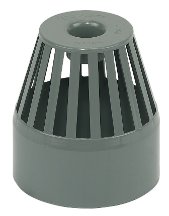 FLOPLAST SP302GR 110MM SOIL SYSTEM - VENT TERMINAL - GREY