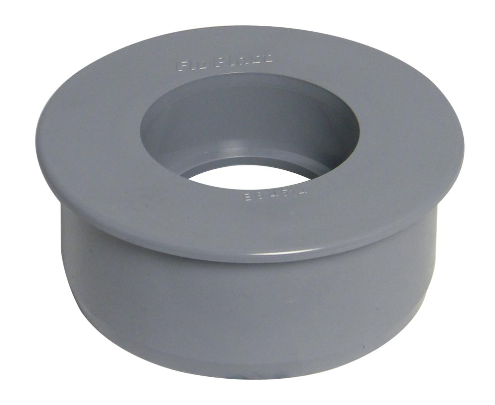 Floplast SP95GR 110mm / 4in Ring Seal Soil System - 110mm Reducer (Boss Adaptor Required) - Grey