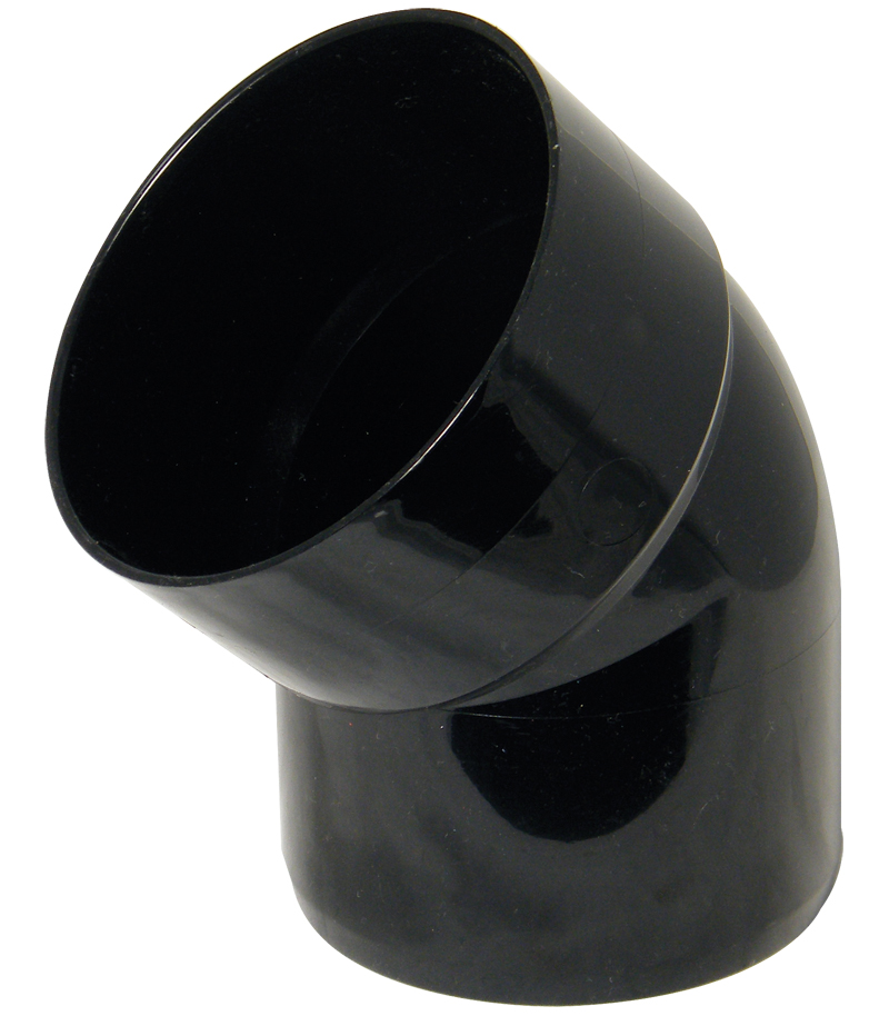 FLOPLAST 110MM RING SEAL SOIL SYSTEM - SP435 135* OFFSET BEND SS - BLACK