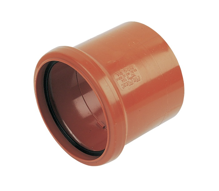 Floplast D124 Coupling Single Socket 110mm Underground Drainage