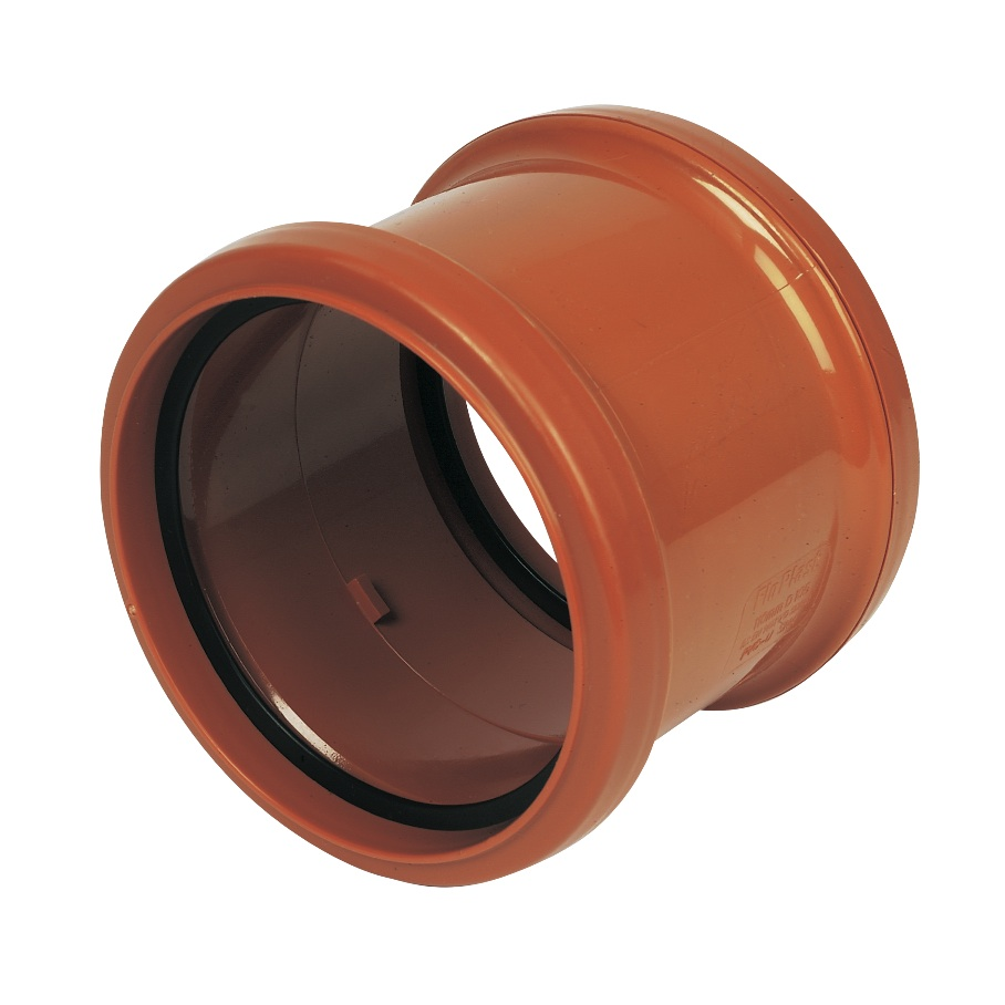 Floplast D105 Coupling Double Socket 110mm Underground Drainage