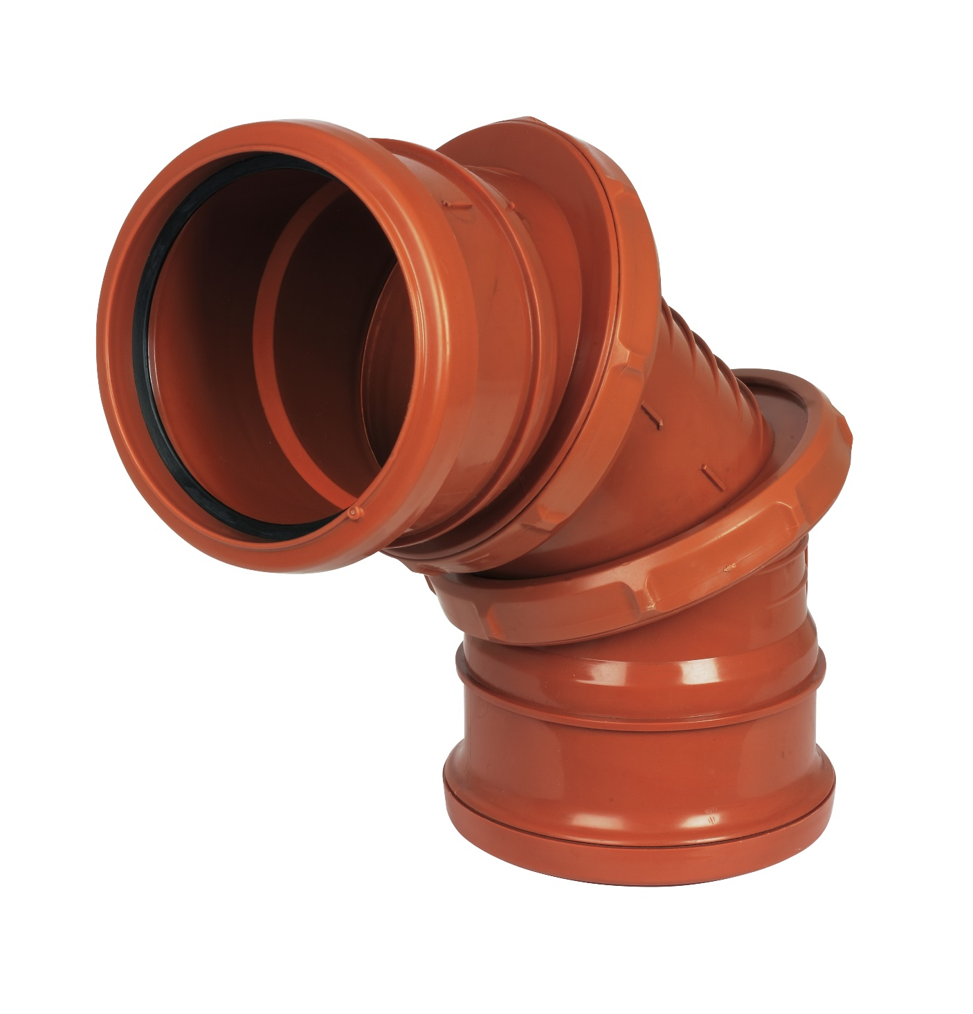 Floplast D560 0-90* Adjustable Bend 110mm Underground Drainage