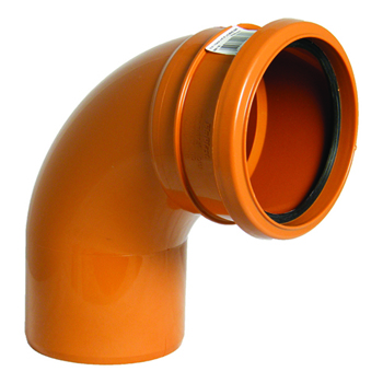 Floplast D161 87.5* Bend Single Socket 110mm Underground Drainage