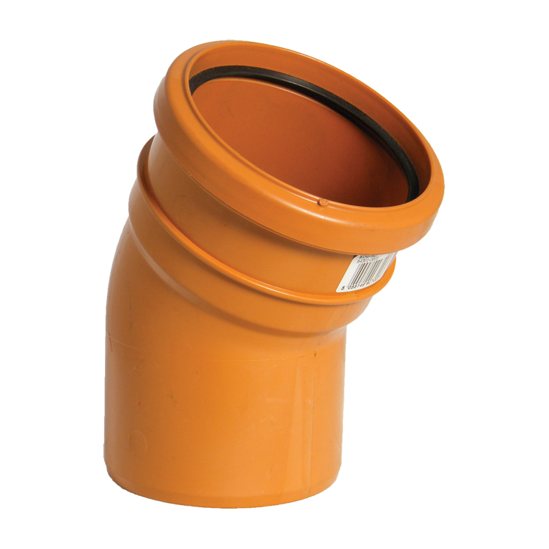 Floplast D164 30* Bend Single Socket 110mm Underground Drainage