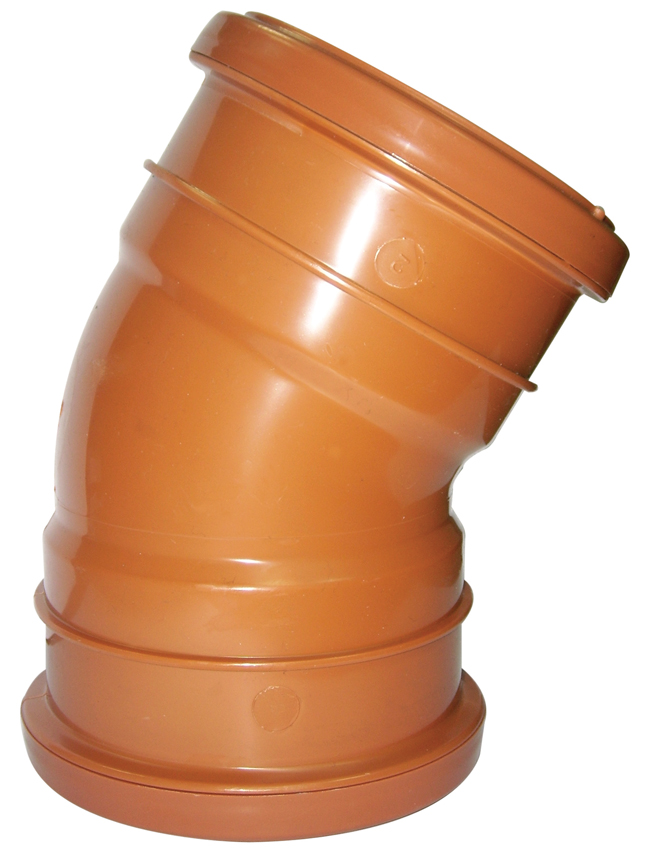 Floplast D564 30* Bend Double Socket 110mm Underground Drainage