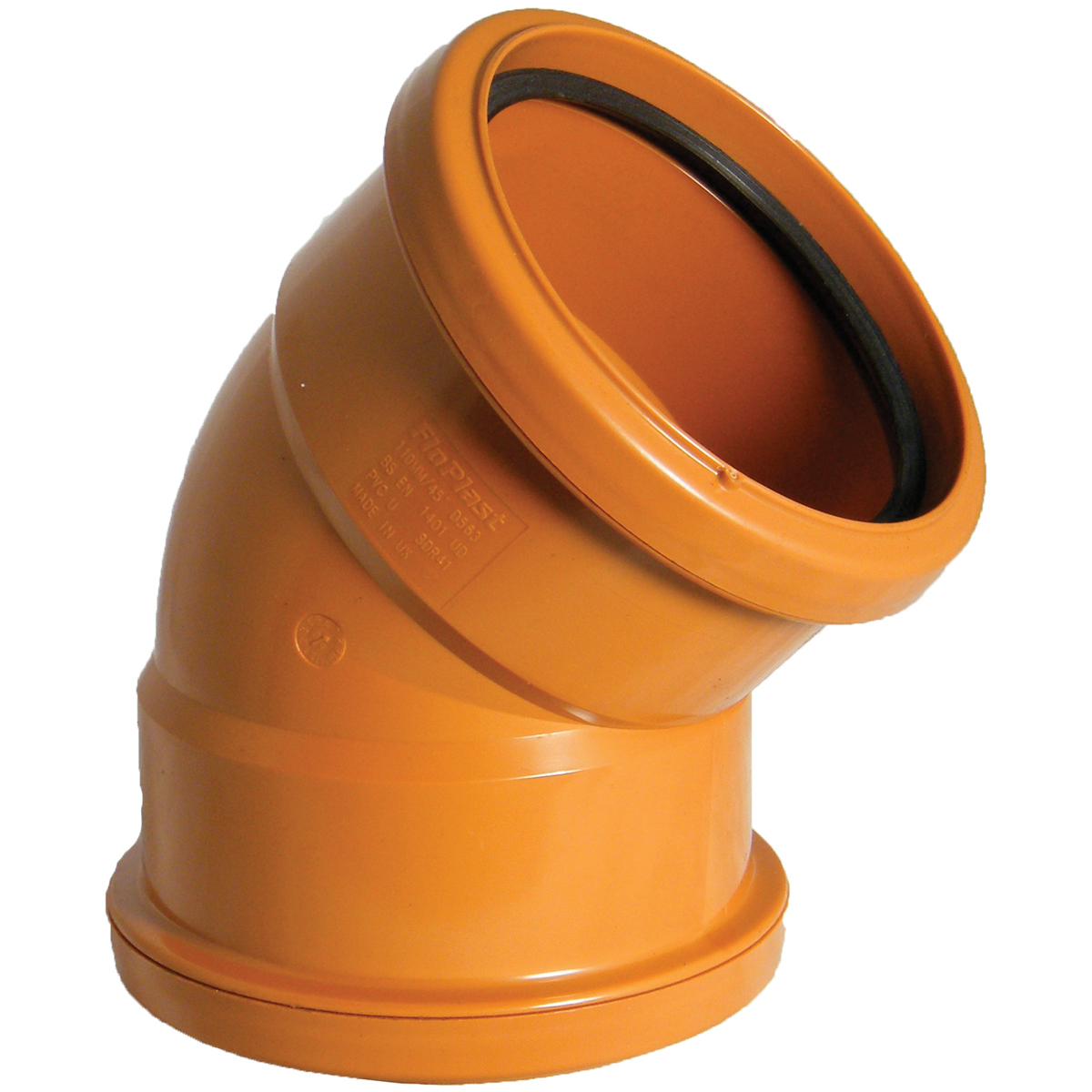 Floplast D563 45* Bend Double Socket 110mm Underground Drainage
