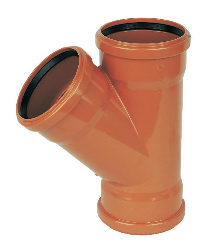 Floplast D211 45* Branch Triple Socket 110mm Underground Drainage