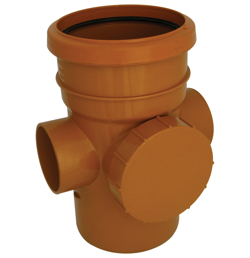 Floplast D274 Access Pipe Single Socket 110mm Underground Drainage