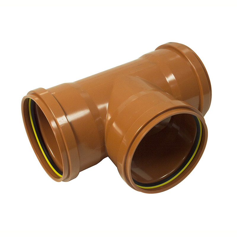 FLOPLAST 6D191 160MM TRIPLE SOCKET U/G TEE