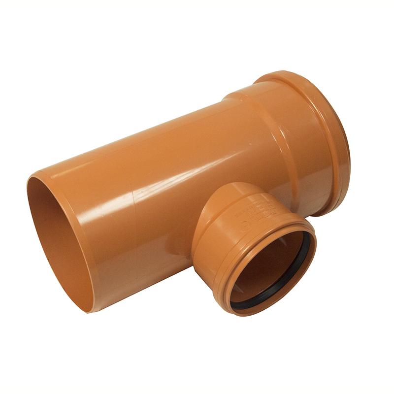 Floplast 6D198 160mm x 110mm 87.5* Underground Drainage - Double Socket Reducing Branch