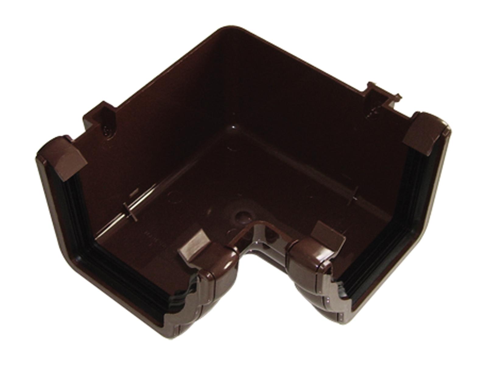 Floplast RAN1BR 110mm Niagara Ogee Gutter - 90* Internal Angle - Brown