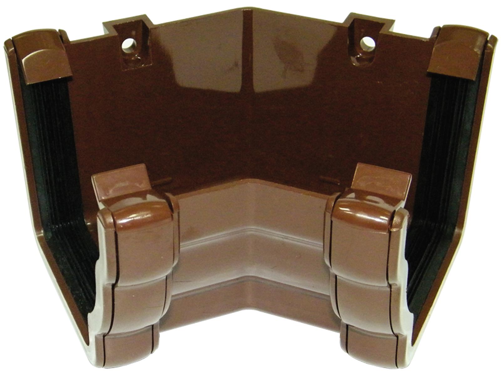 Floplast RAN3BR 110mm Niagara Ogee Gutter - 135* Internal Angle - Brown