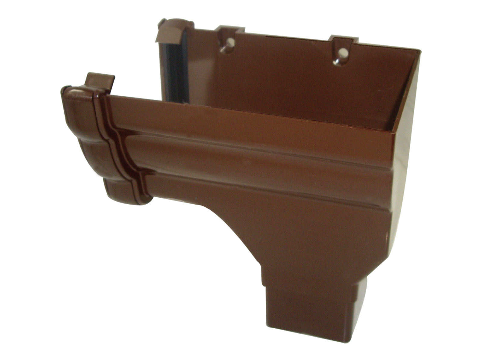 FLOPLAST NIAGARA - RON3 R/H STOPEND OUTLET - BROWN