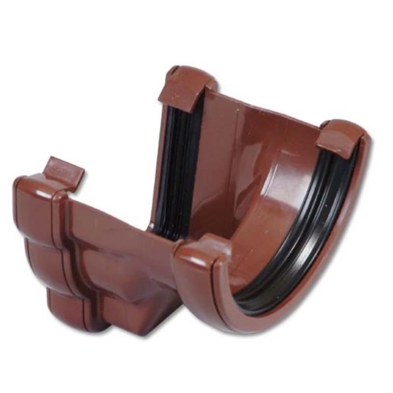 Floplast RNR4BR 110mm Niagara Ogee Gutter to 112mm Half Round Gutter Adaptor - Left Hand - Brown