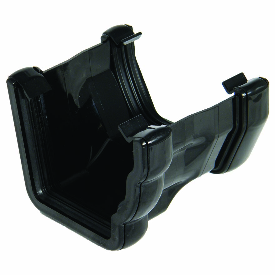 FLOPLAST 110MM NIAGARA TO 114MM SQUARE LINE GUTTER ADAPTOR - R/H RNS3 - BLACK