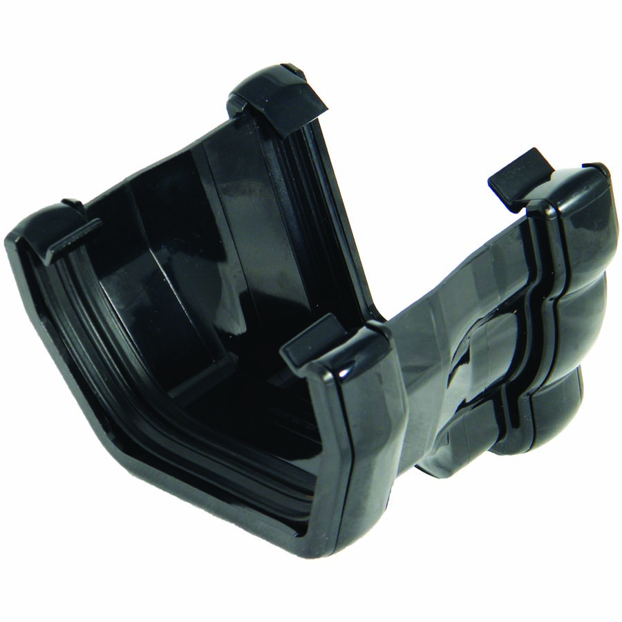 FLOPLAST 110MM NIAGARA TO 114MM SQUARE LINE GUTTER ADAPTOR - L/H RNS4 - BLACK