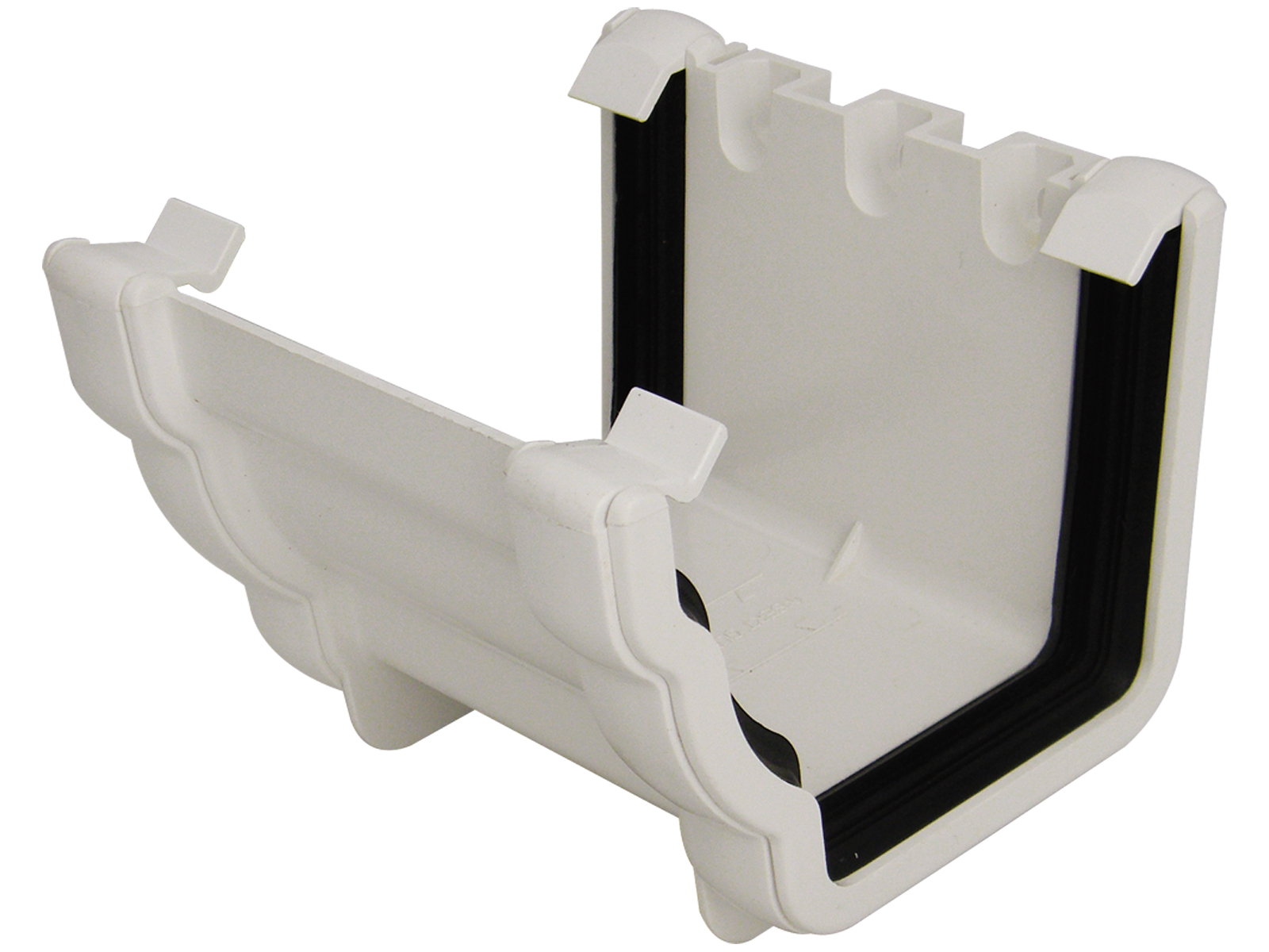 RUN1W UNION BRACKET NIAG GUTTER WHITE