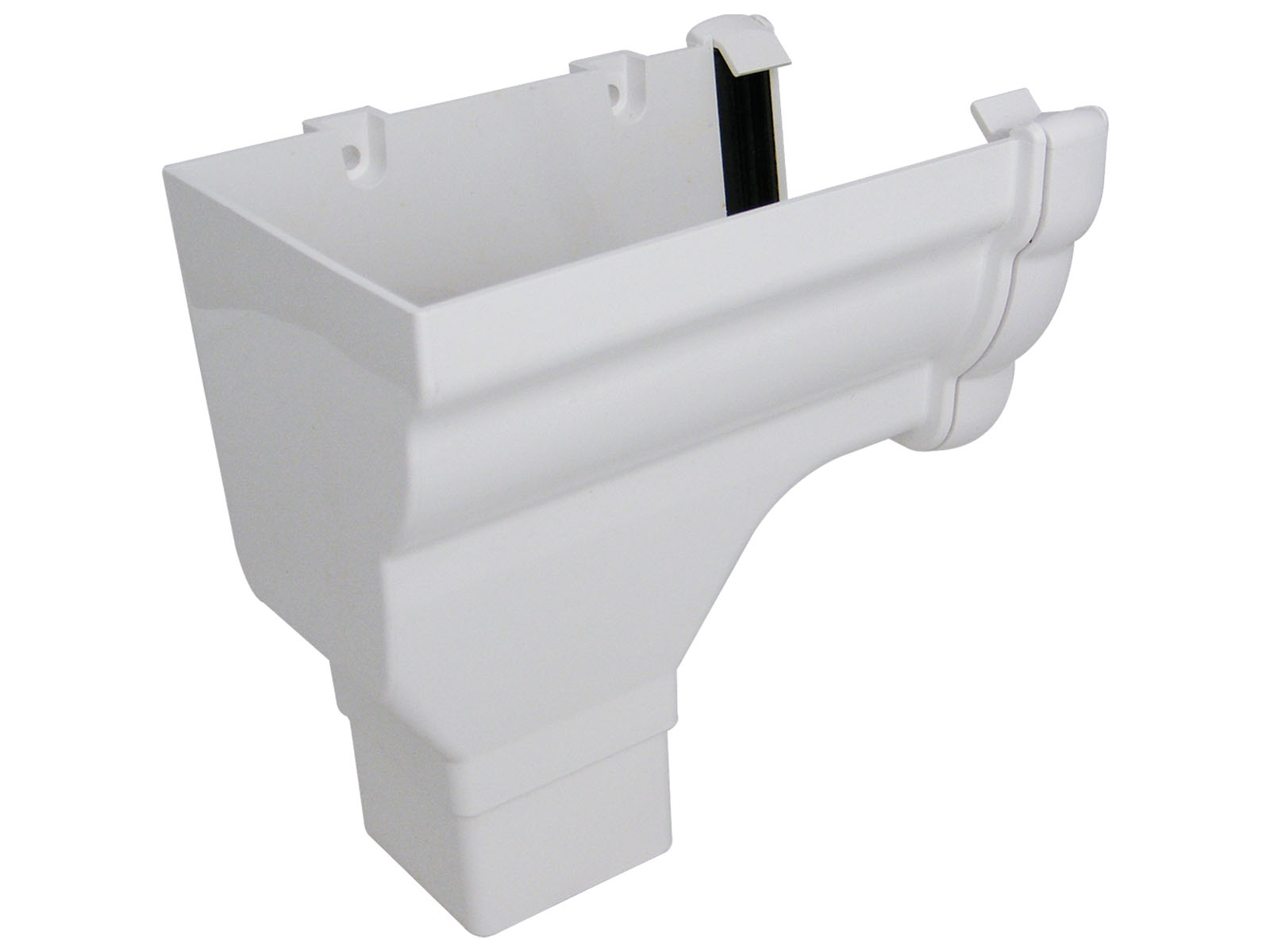 FLOPLAST NIAGARA - RON2 L/H STOPEND OUTLET - WHITE