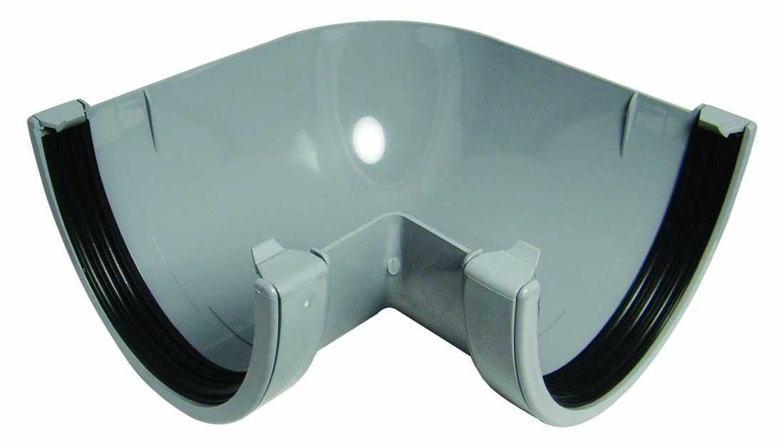 Floplast RAX1GR 170mm Xtraflo Gutter System - 90* Angle - Grey