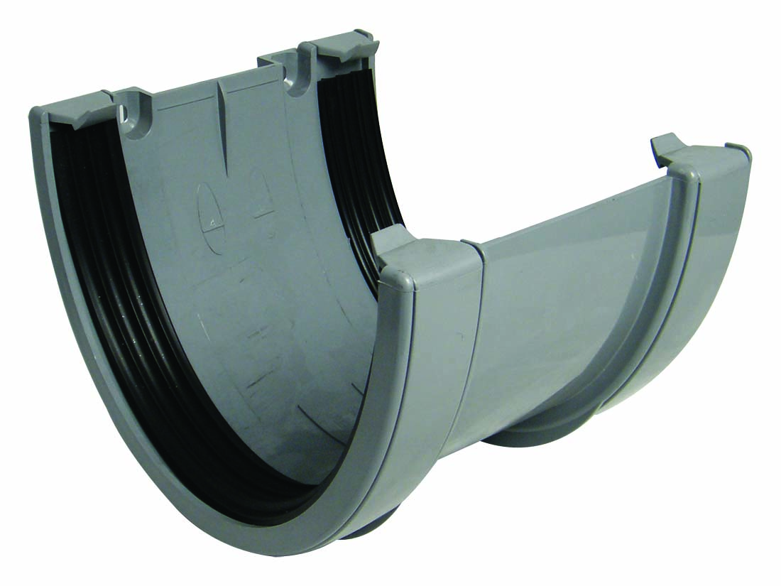 FLOPLAST RUX1GR XTRAFLO 170MM GUTTER SYSTEM - UNION BRACKET - GREY