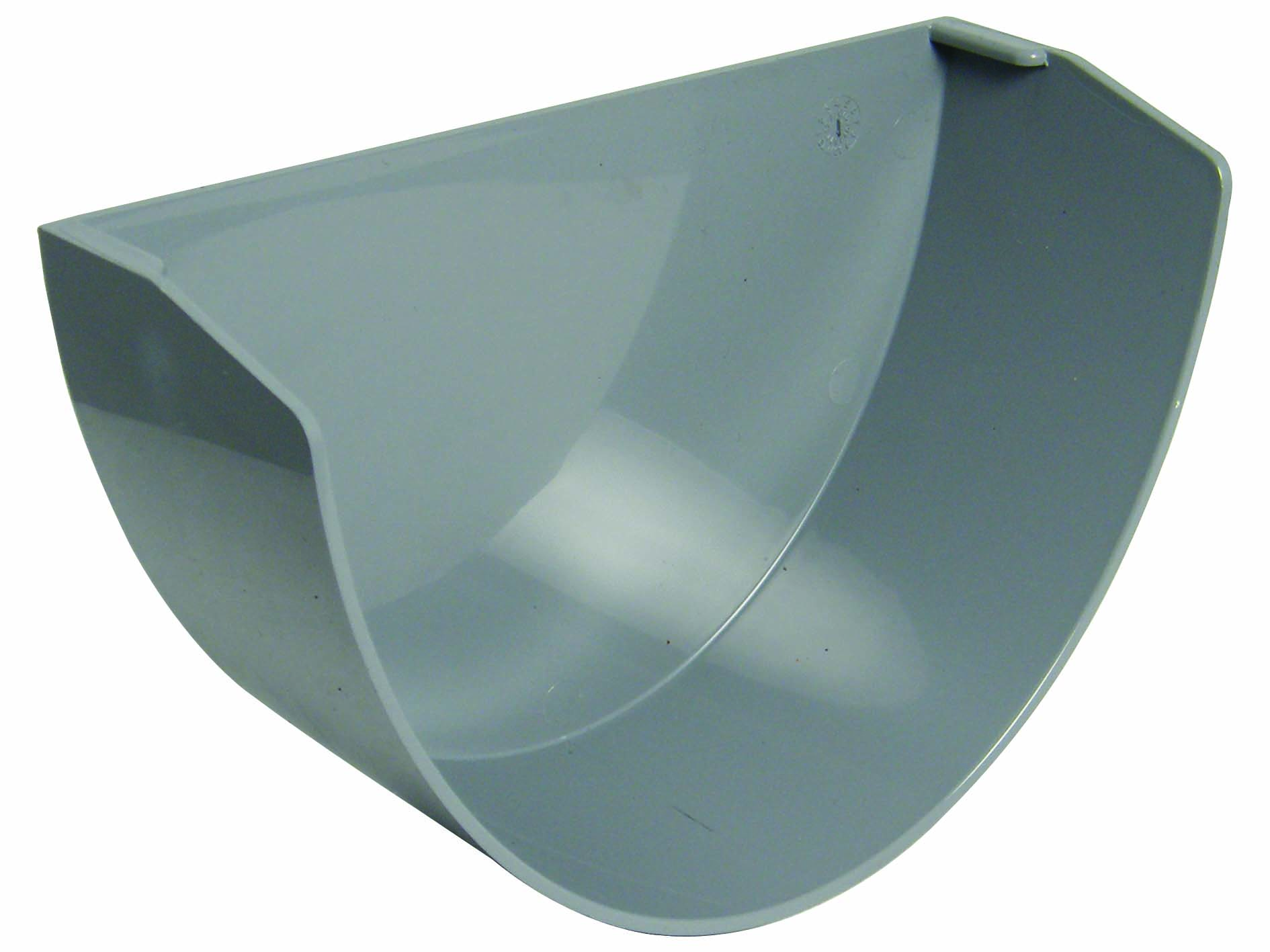 FLOPLAST REX2GR XTRAFLO 170MM GUTTER SYSTEM - INTERNAL STOPEND - GREY